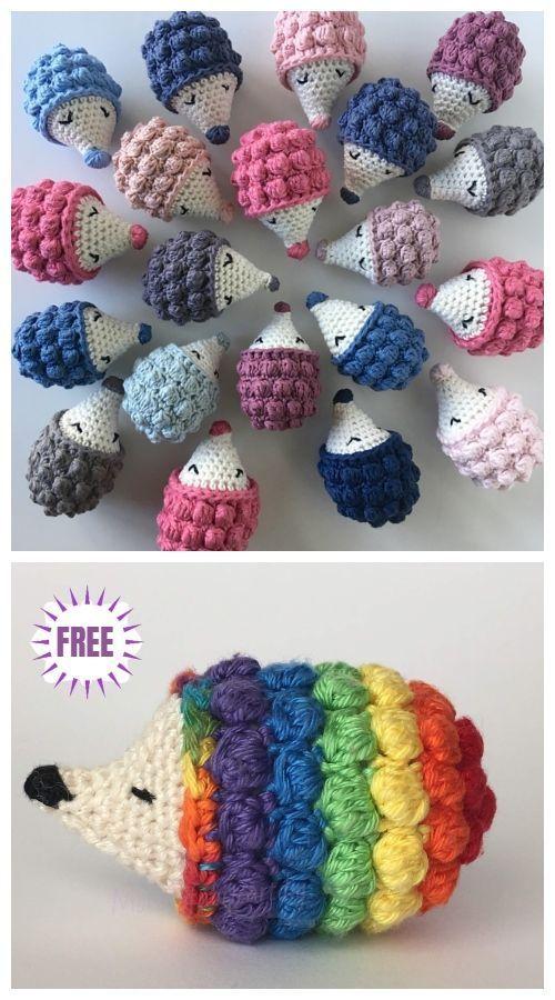 Crochet Diddy Hedgehog Amigurumi Gratisanleitung - Video Crochet Diddy He ... gestrickt ideen #amigurumipatterns
