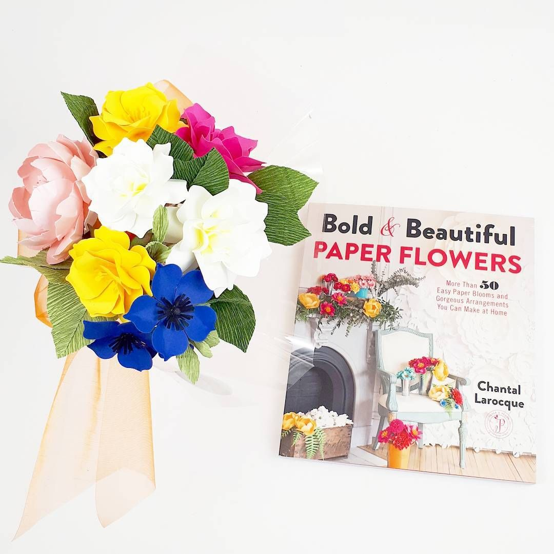 Paper Flower Tutorial And Templates Diy Book Bold Beautiful