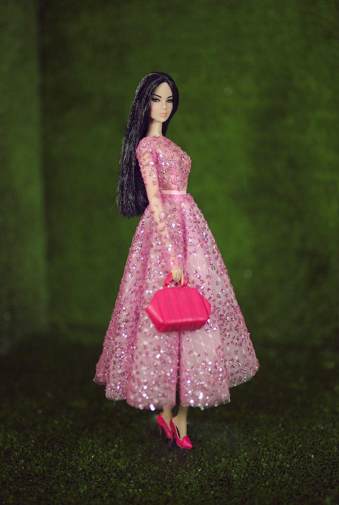 Ayumi - lady pink dress by Rimdoll