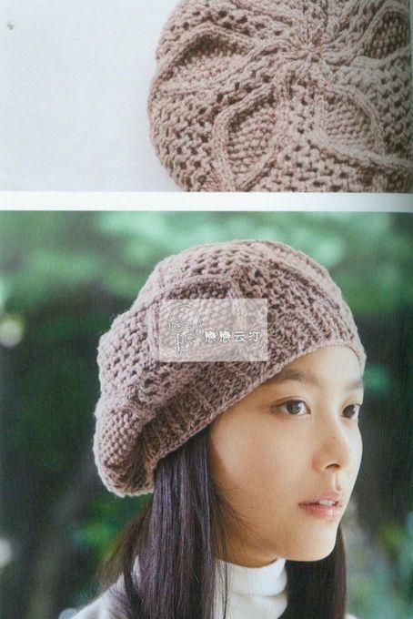 Шапка и варежки спицами   Вязаные женские шапки, береты   Pinterest ...