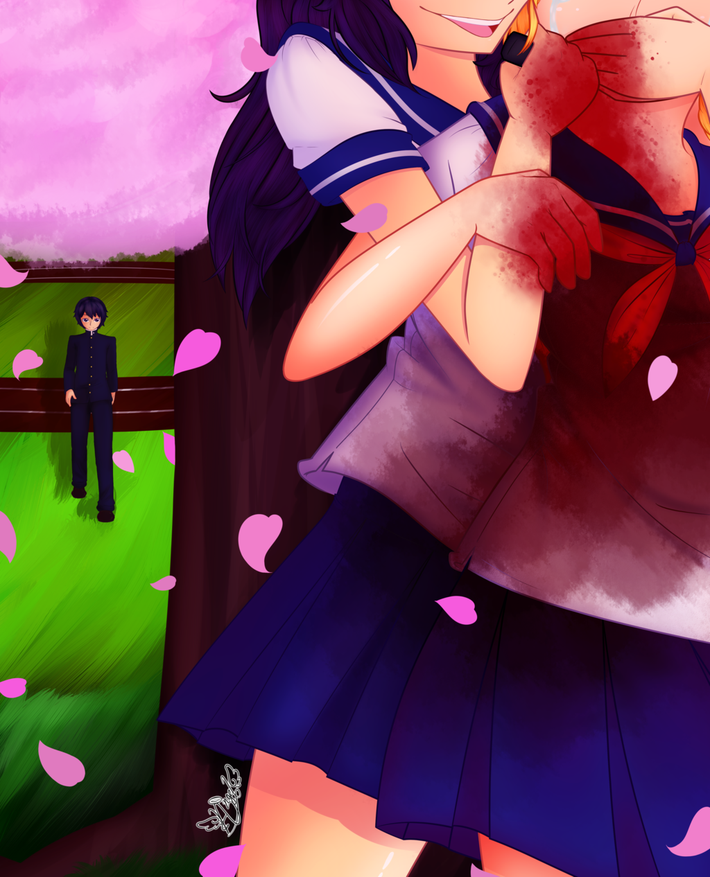 In The Shadows Of The Cherry Blossom Tree Yandere Simulator Yandere Cherry Blossom Tree