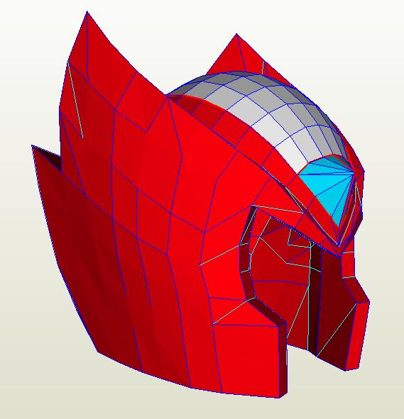 Megaman X Zero Helmet Pepakura Problems Halo Costume And Prop Maker Community 405th Pepakura Prop Maker Maker Community