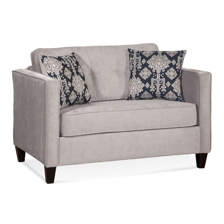 Serta Upholstery Elizabeth Cuddler Sleeper Loveseat | Tip Top Office ...