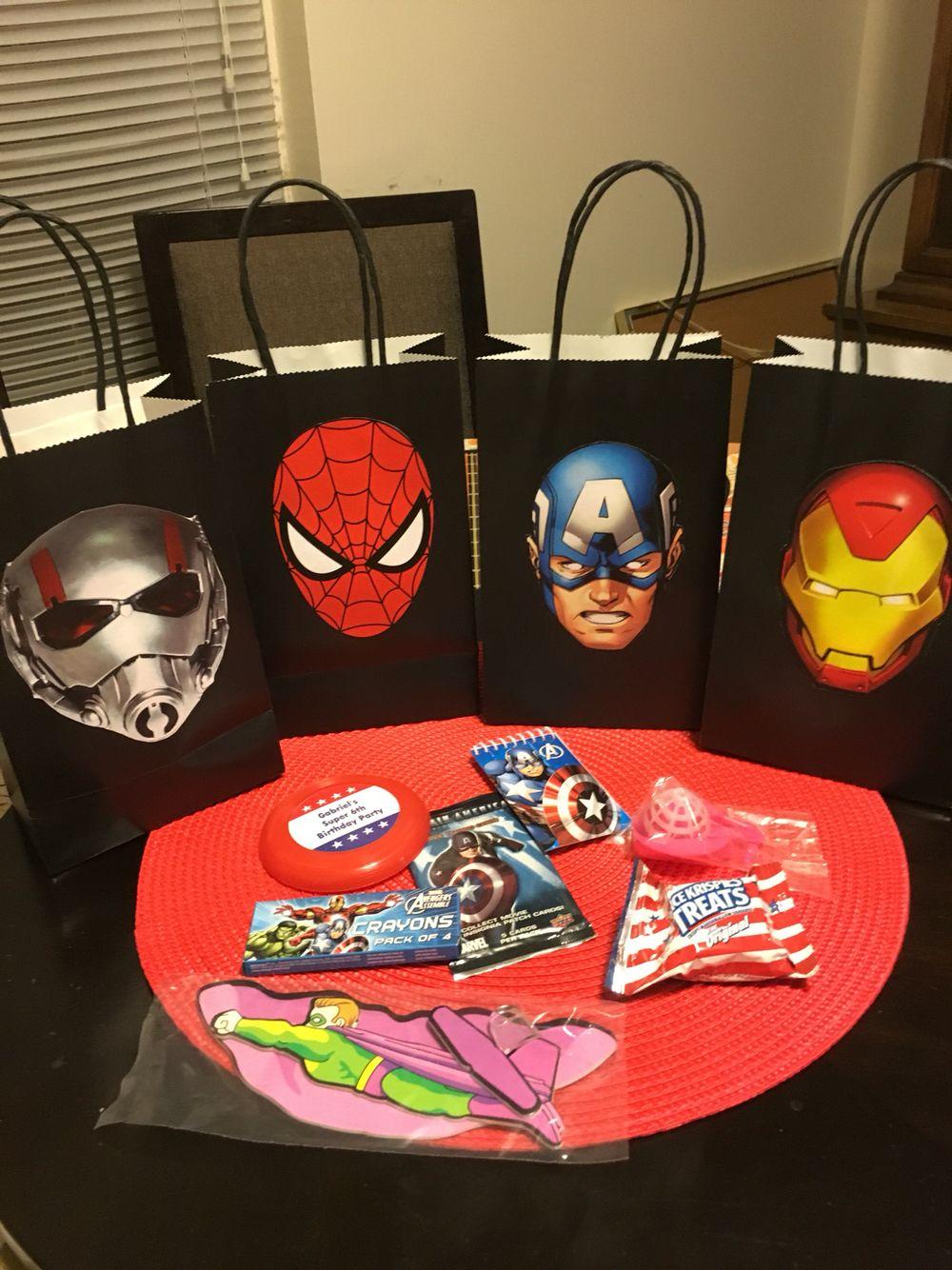 Spiderman Black Widow Personalized Avengers Felt Masks Avengers Birthday Party Favors Hulk! Ironman Thor Hawkeye Captain America
