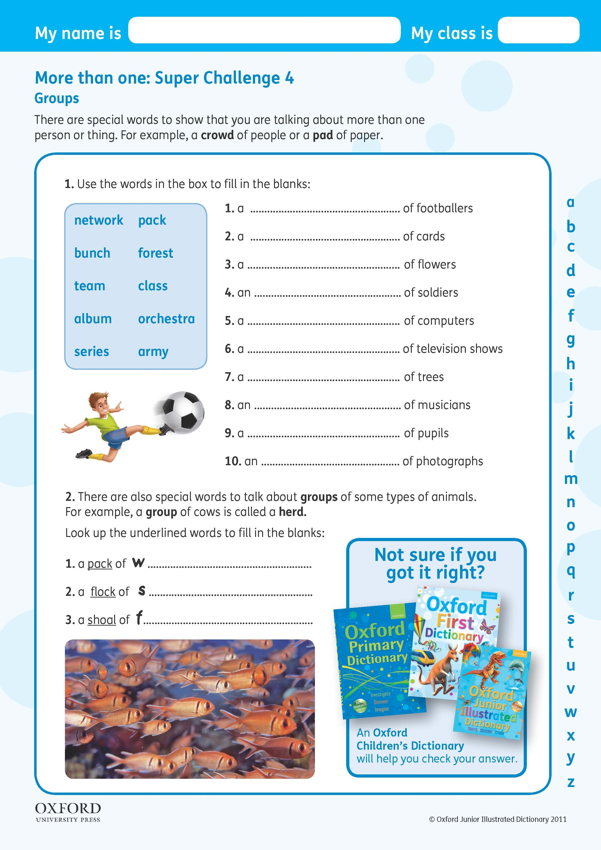 Download Your Free Oxford Junior Illustrated Dictionary Super Challenge Worksheet Teach Children About Word Groups Teaching Kids Dictionary Teaching [ 3508 x 2481 Pixel ]