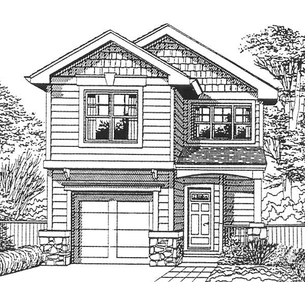 2 Car Garage Apartment Plan Number 94343 With 1 Bed 1: Bungalow Craftsman Plan With 1400 Sq