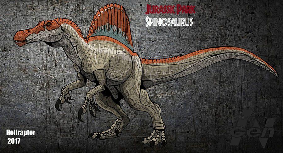 Jurassic Park: Spinosaurus (new art +info) by HellraptorStudios #jurassicparkworld