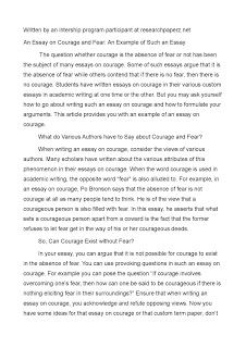 Essay Example Courage Breast Cancer Essays