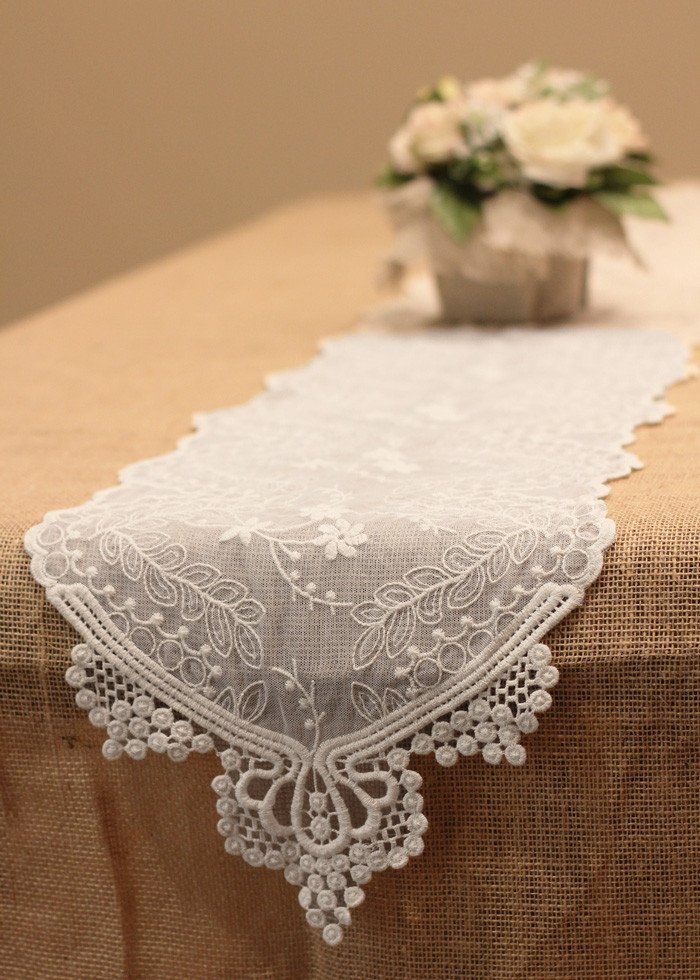 Beautiful Cotton Lace Table Runner In White Add Elegance And Style To Your Wedding With This Decorative The Perfect Accent Complement