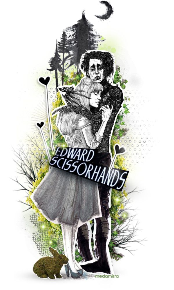 """EDWARD SCISSORHANDS"" by medamisra ❤ liked on Polyvore"