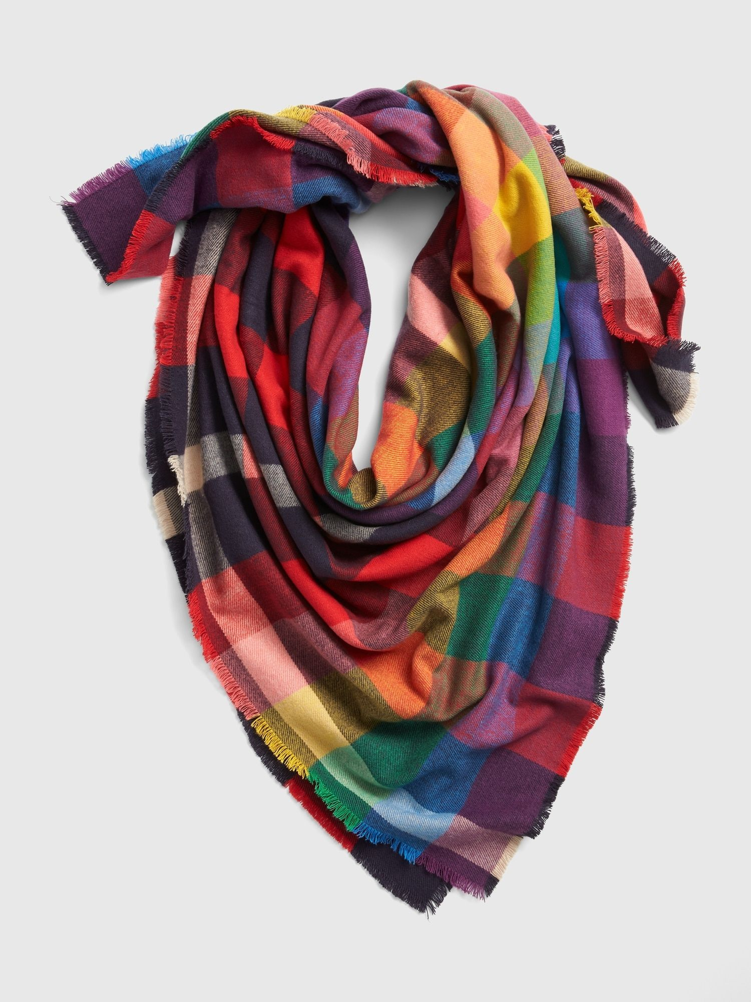 9e05e86560a $45 @ GAP - Rainbow blanket scarf | Buy for me? | Blanket scarf ...