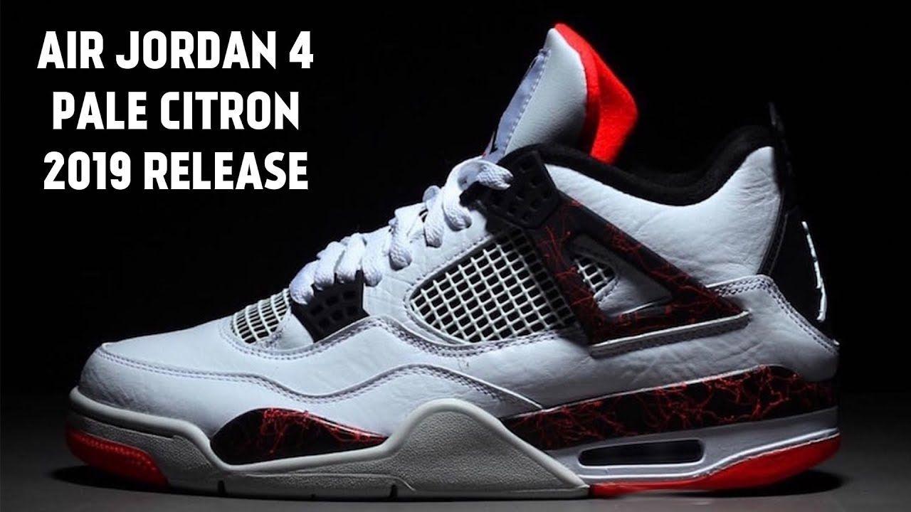 c254e148193 Air Jordan 4 Pale Citron - March 2, 2019 Release for $190   Sneakers