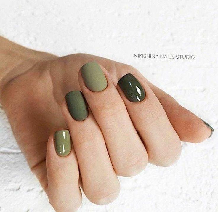 Pin By Shelley Bryson On Manikyur Green Nails Nails Cute Nails