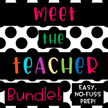 Meet the Teacher {BLACK and WHITE BRIGHT colorful} back to school
