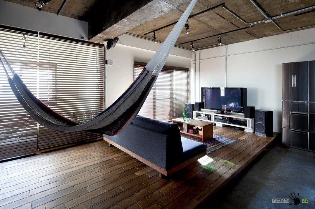 Нетривиальный дизайн японской квартиры в стиле лофт