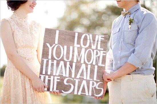 Eu te amo mais do que todas as estrelas