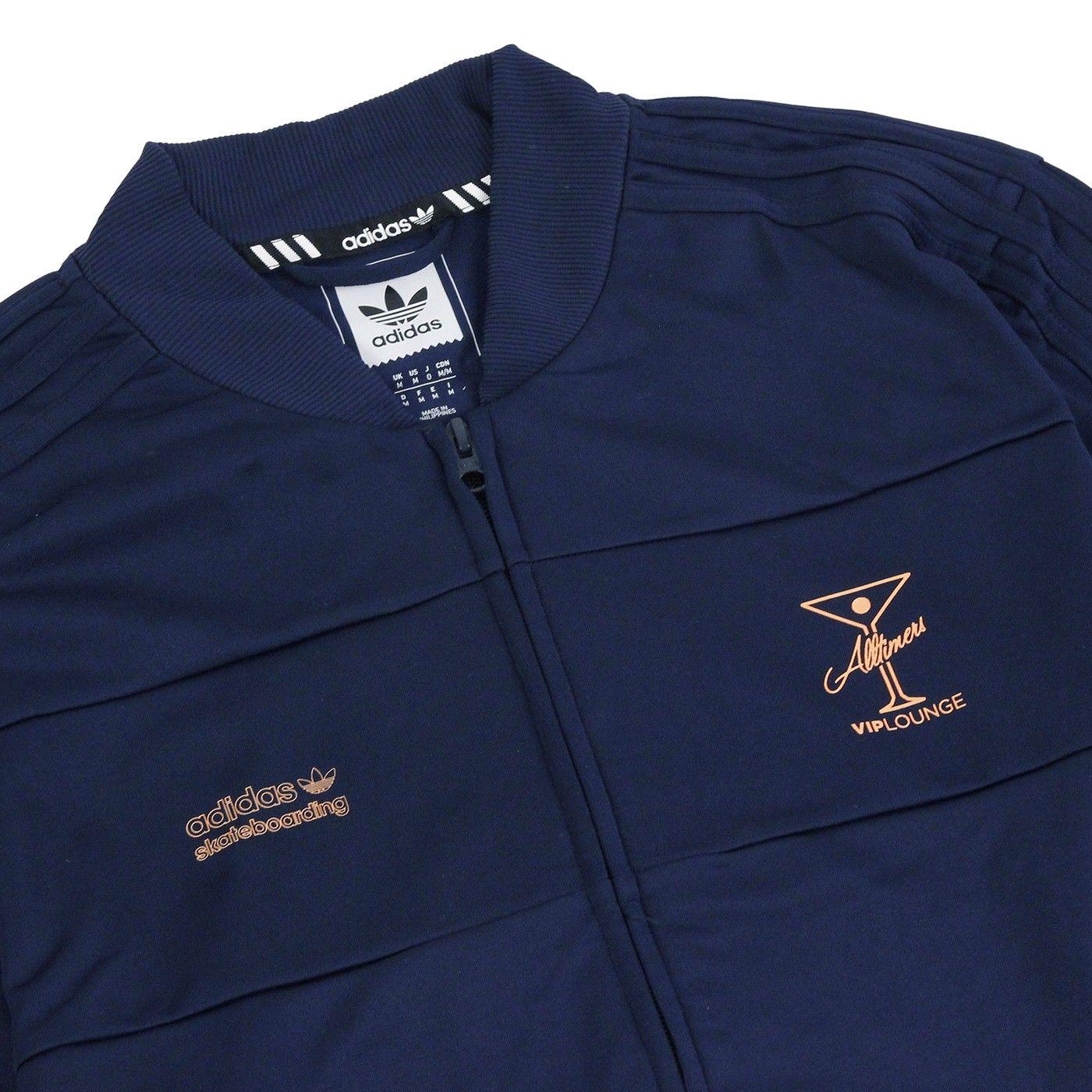 50e4de17 Track Jacket in Collegiate Navy by Adidas Skateboarding x Alltimers ...