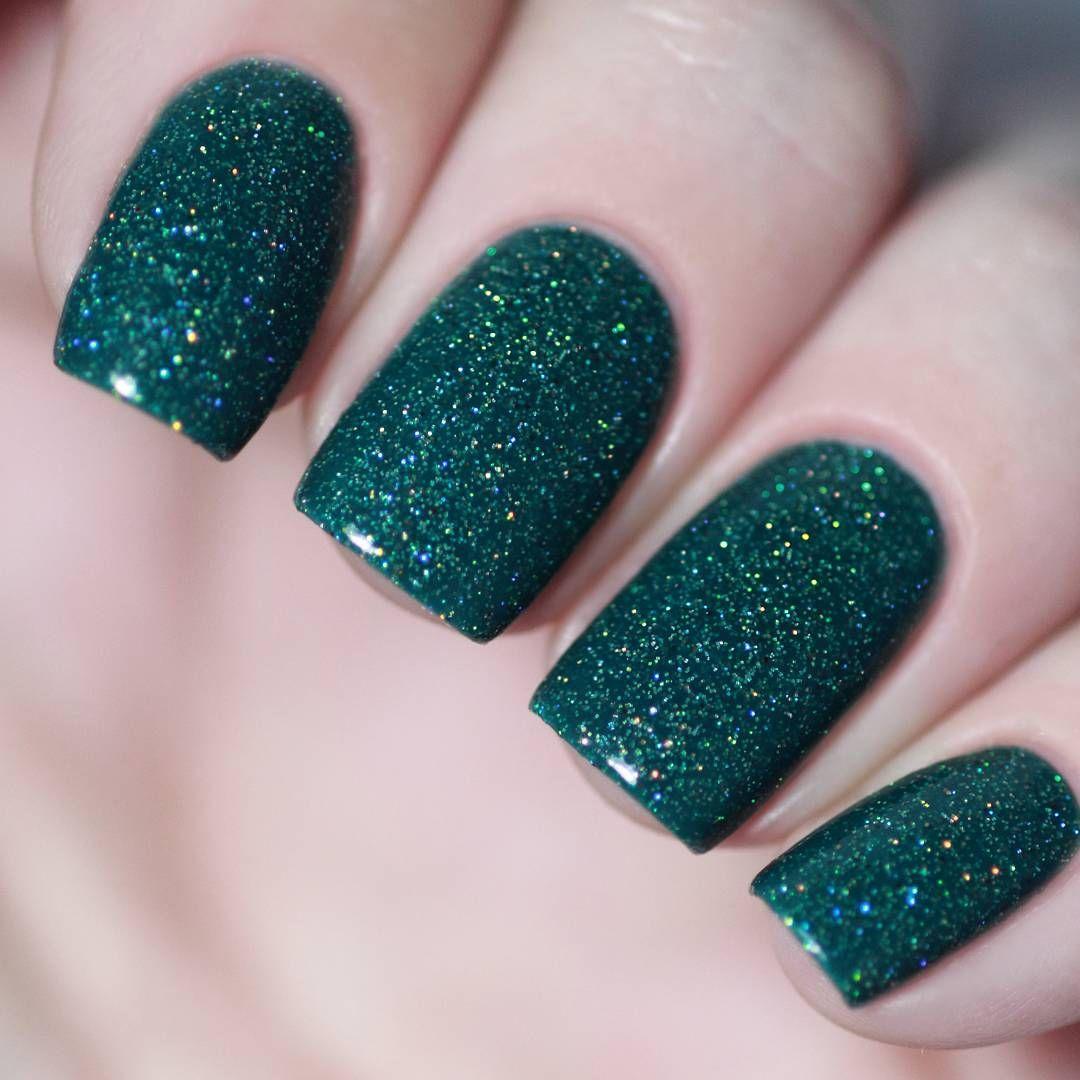 Green Glitter Nail Art Design Inspiration Ideas Prom Women And