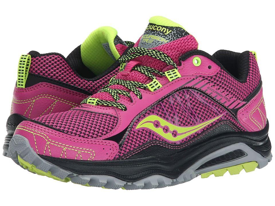 Womens Shoes Saucony Excursion TR9 Pink/Black/Citron