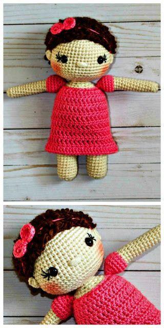 Free Crochet Doll Pattern The Friendly Mae Crochet Doll Stuffs