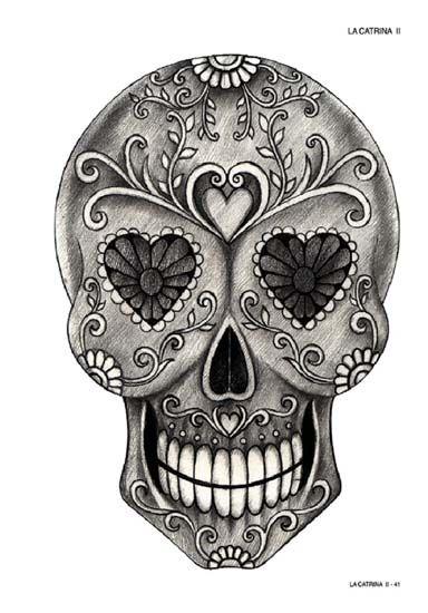 la catrina vol 2 bilder vom tag der toten skull coloring dia de los muertos pinterest. Black Bedroom Furniture Sets. Home Design Ideas