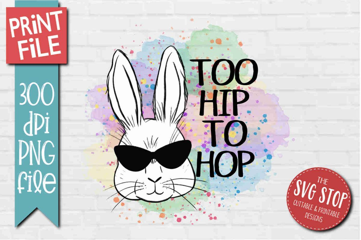 Bunny Rabbit Glasses Easter Sublimation Design PNG in 2020