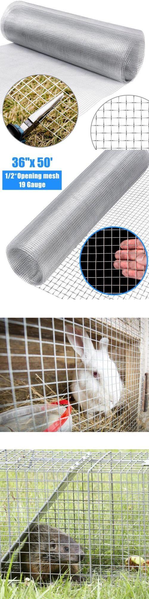 Hardware Cloth Galvanized Chicken Wire Welded Fence Mesh Roll 36/'/'x 50/' 1//2 inch
