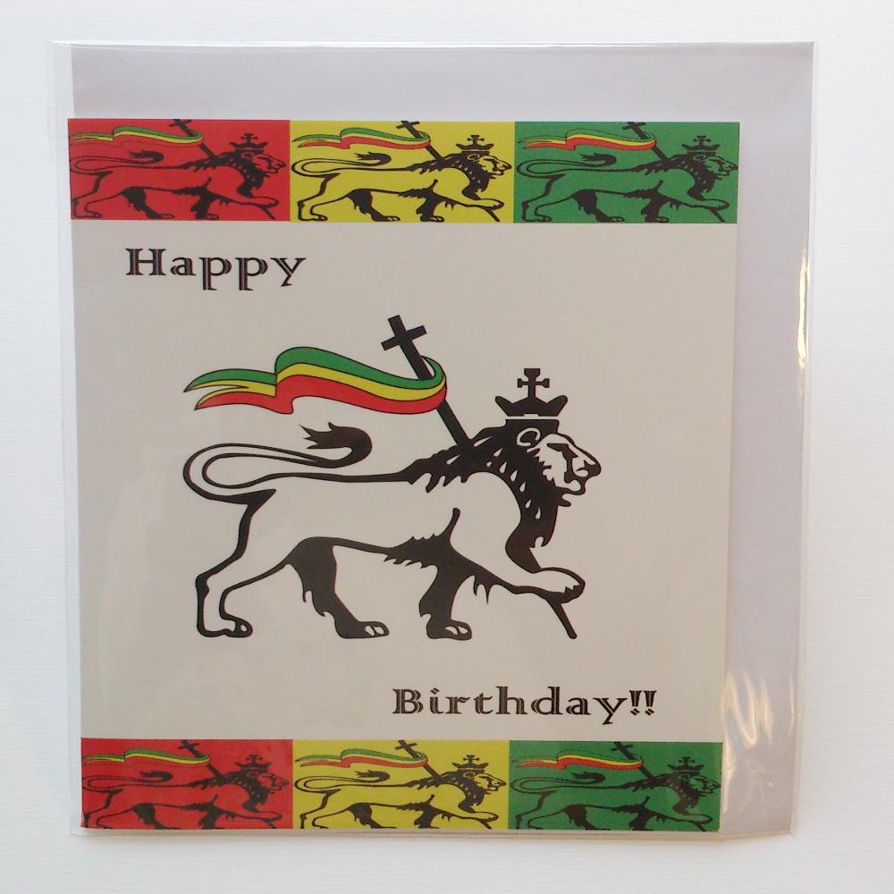 Judah Lion Birthday Card In Jamaican Patwa Kalati First Home Made