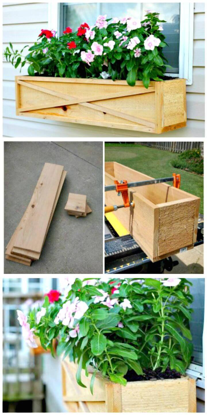 Diy window planter box ideas 14 easy step by step plans