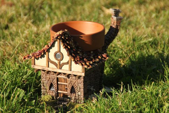 Fairy Garden Cottage Planter by Microtopia on Etsy, $80.00
