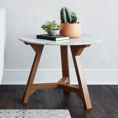 Foundstone Colford End Table Modern End Tables Marble Top End