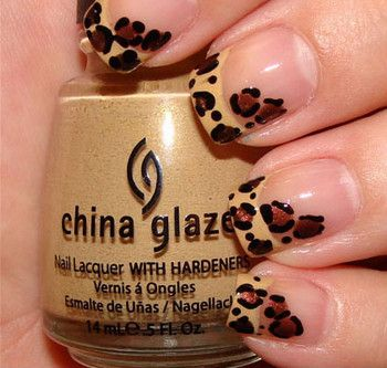 Love these leopard print nails!