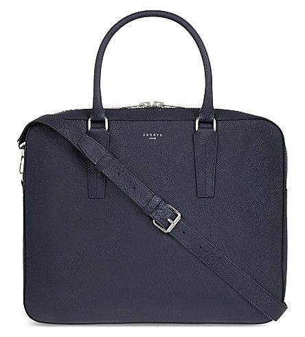 66f07f730 SANDRO Downtown leather briefcase in 2019 | work bags | Leather ...