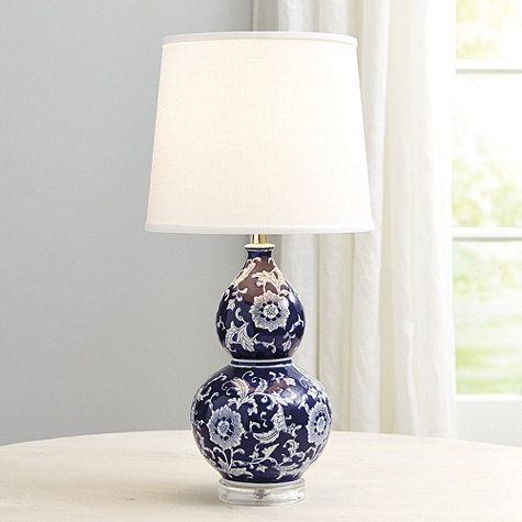 Blue White Double Gourd Table Lamp