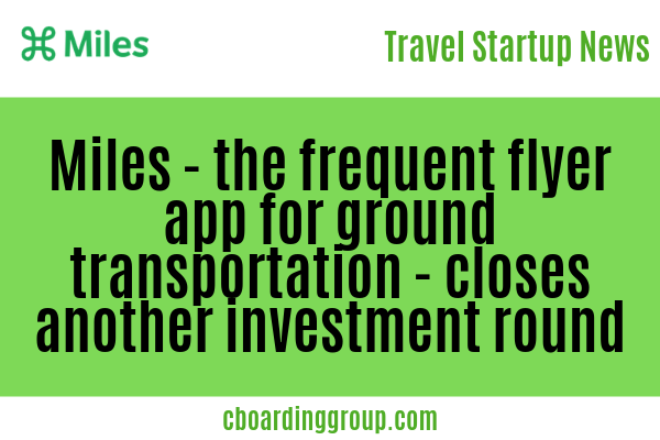 Miles the frequent flyer app for ground transportation