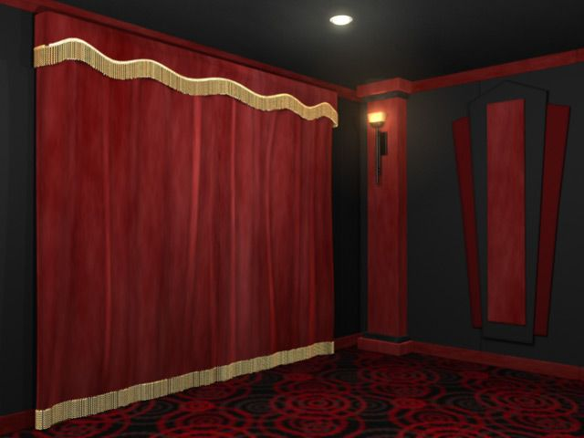 Good Standard Home Theater Curtains