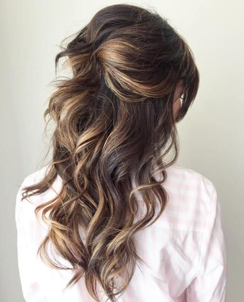 Wedding Hairstyles Down Curly: Half Up Half Down Wedding Hairstyles