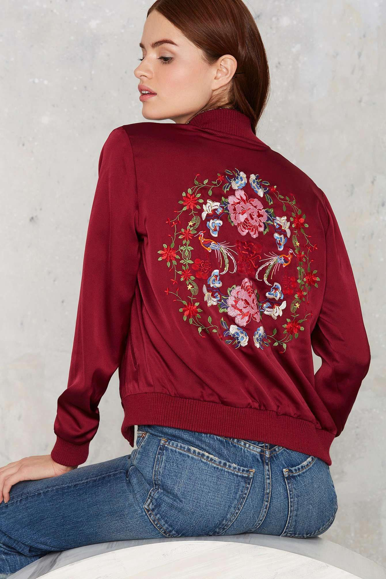 f7c63100b0007 Nasty Gal Flower Trip Bomber Jacket | Shop Clothes at Nasty Gal!  #KWayWomensaustruRaincoat