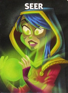 At night, the Seer may either look at one player's role, or at two of the spare roles (A B or C)