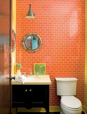 Beautiful Bathroom Inspiration Orange Bathrooms Orange Bathrooms Beautiful Bathrooms Orange Tiles