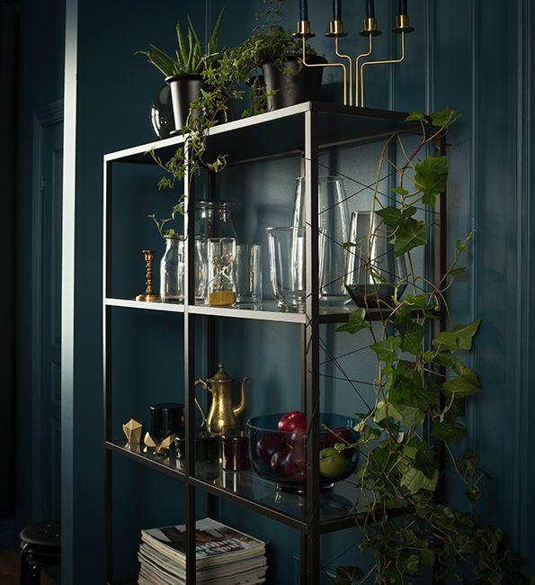 Vittsjö Stellingkast Zwartbruin Glas Home Decor