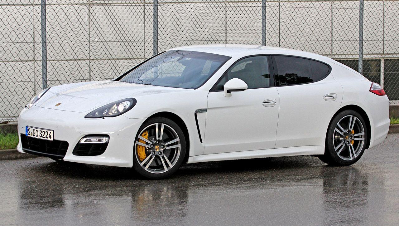 2012 Porsche Panamera Turbo S White Yellow Calipers