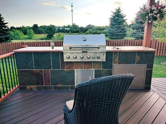 Kitchenaid 4 Burner Built In Propane Gas Island Grill Head In Stainless Steel With Searing Main Burner And Rotisserie Burner 740 0781 The Home Depot Outdoor Kitchen Design Outdoor Grill Built In Grill