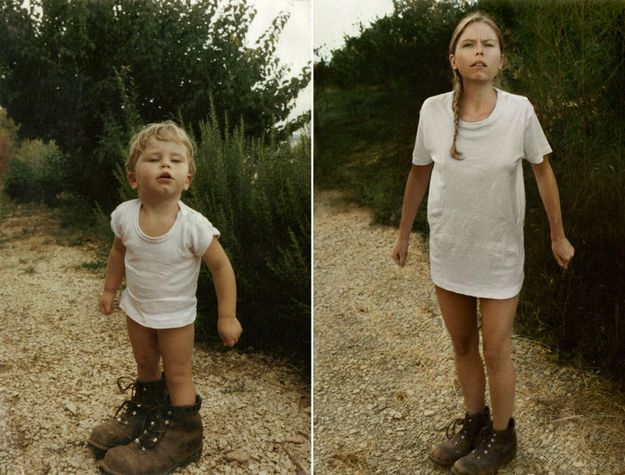 Then and Now photography - great idea!