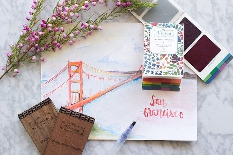 Color Sheets Booklet Lets You Take A Set Of Watercolors With You