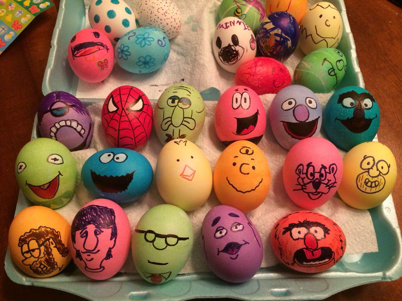 Easter Eggs. We got ideas off Pinterest.
