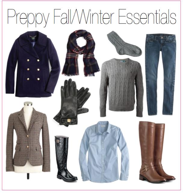 Preppy Fall Winter Essentials Blog Pinterest Preppy