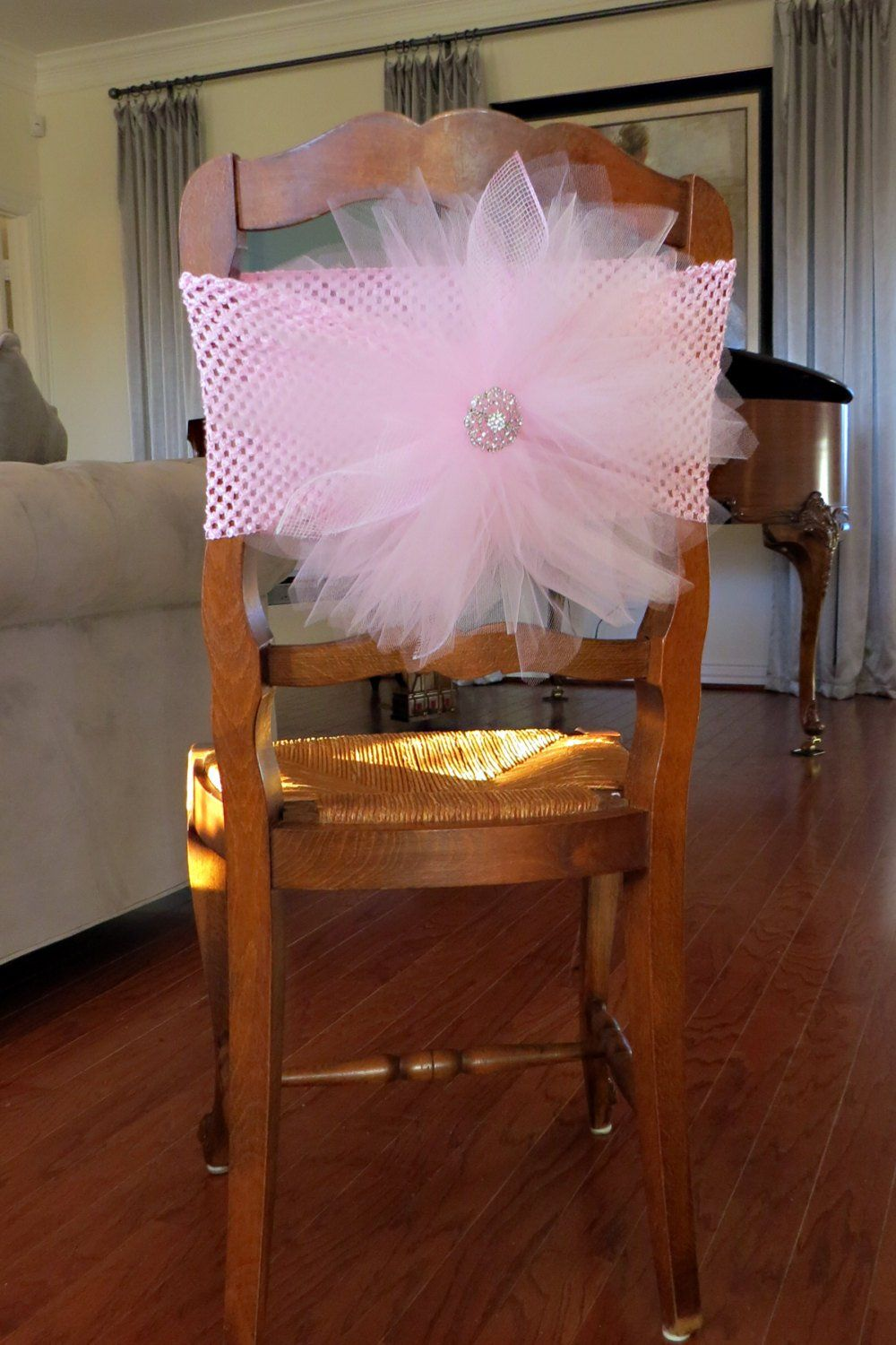 tulle chair cover with crochet elastic band for bridal shower baby shower tutu party party chair decoration and table decoration