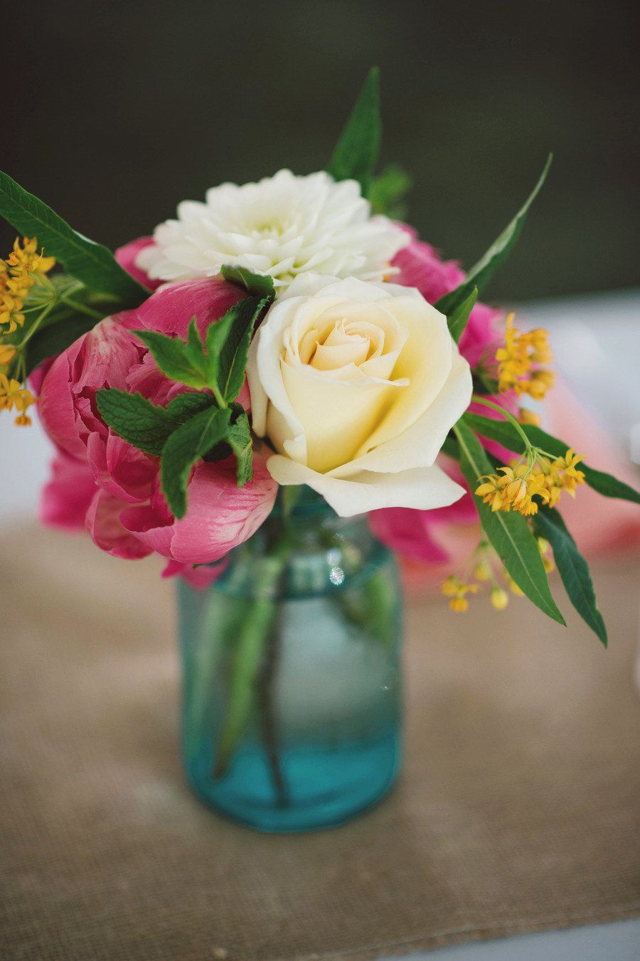 Photography by ginacristinephotography.com Floral Design by tulipdesignstudio.com  Read more - http://www.stylemepretty.com/2013/01/09/barrington-illinois-backyard-wedding-from-gina-cristine-photography/