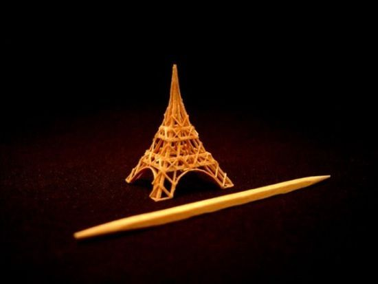 made from a toothpick